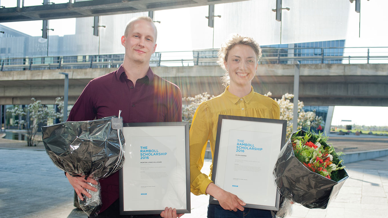 Two winners of the Ramboll Scholarship