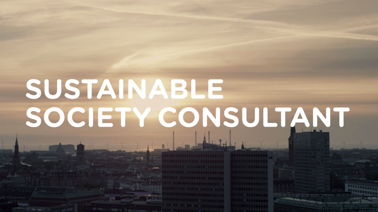Startknap for videoen Sustainable society consultant